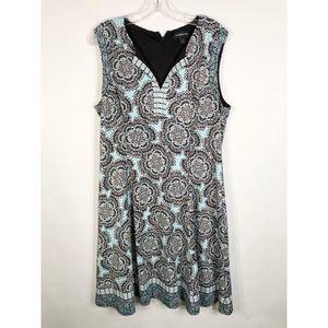 Liz Claiborne Plus Size 16 Dress A Line Floral 498